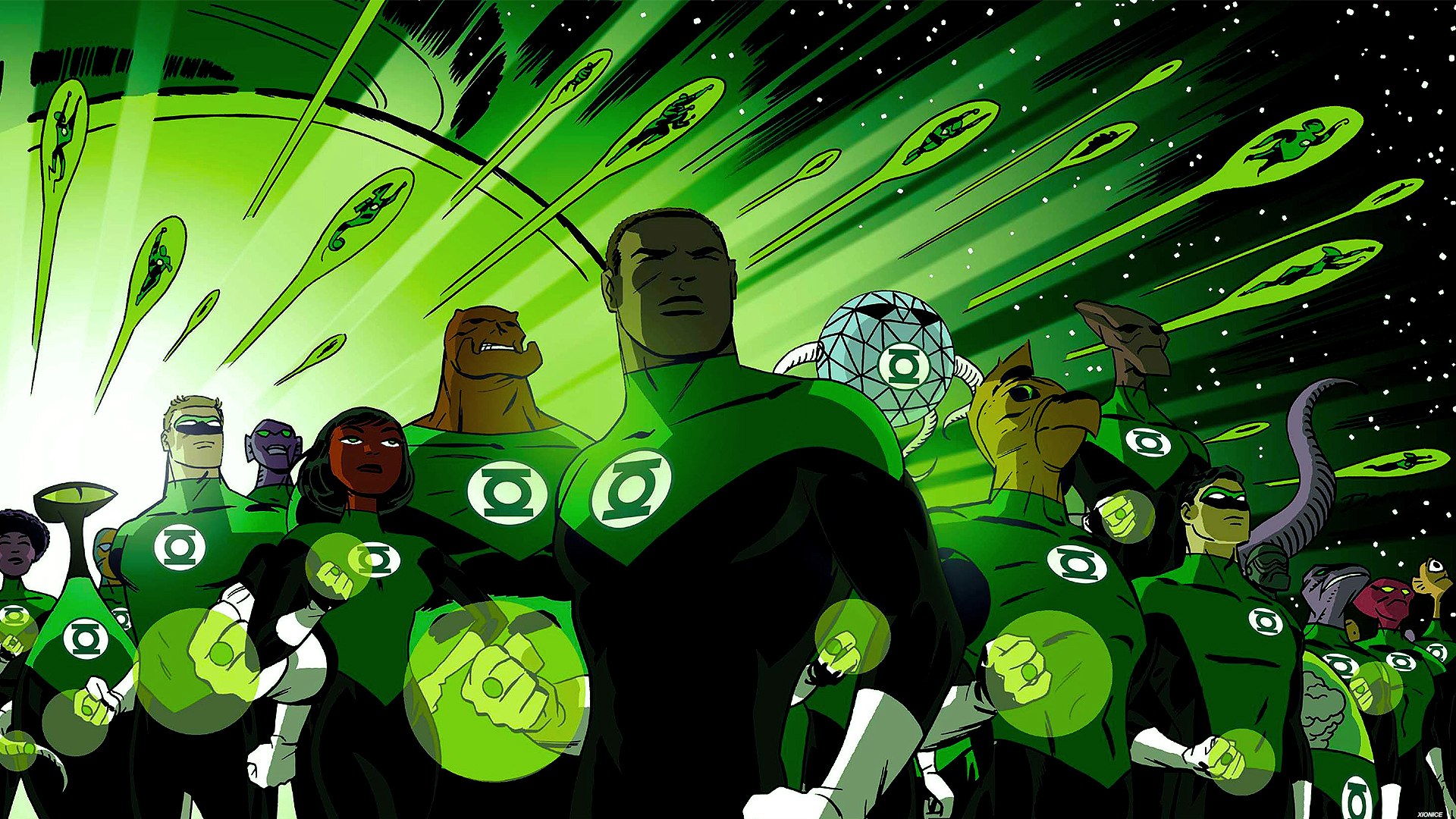 green lantern corps by xionice fan art wallpaper books novels 2015 1920x1080
