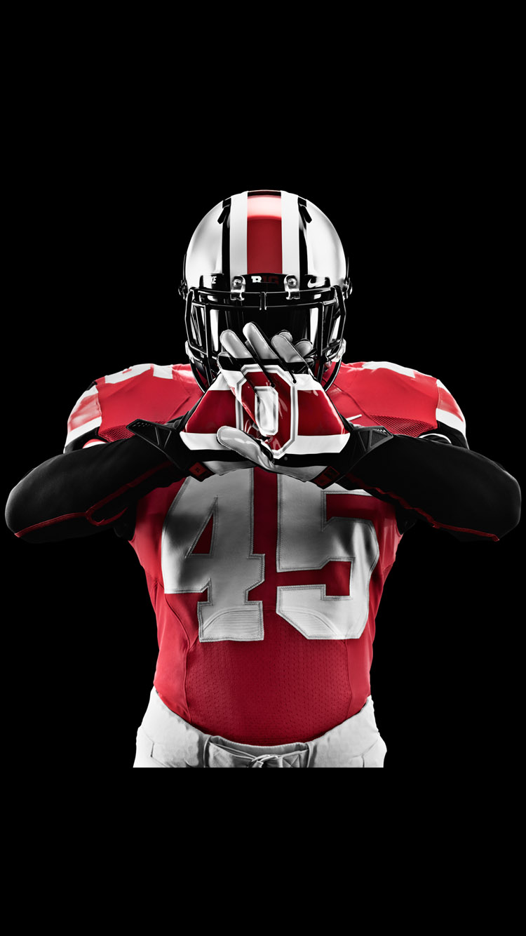 Ohio State Football Wallpaper in Black Background for iPhone 6 HD 750x1334
