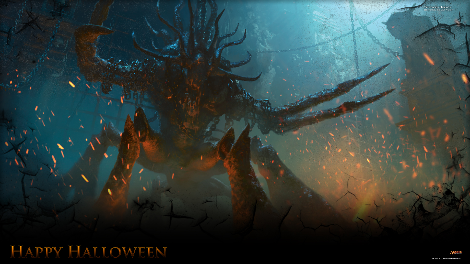Secret Wallpaper of the Week Halloween 2012 MAGIC THE GATHERING 1920x1080