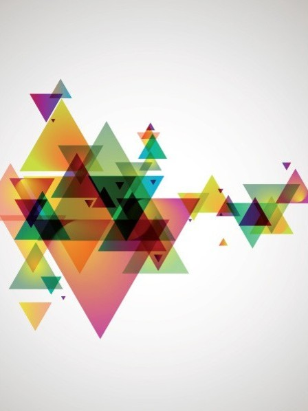 Abstract Geometry Wall Mural   Modern   Wallpaper   other metro   by 448x598