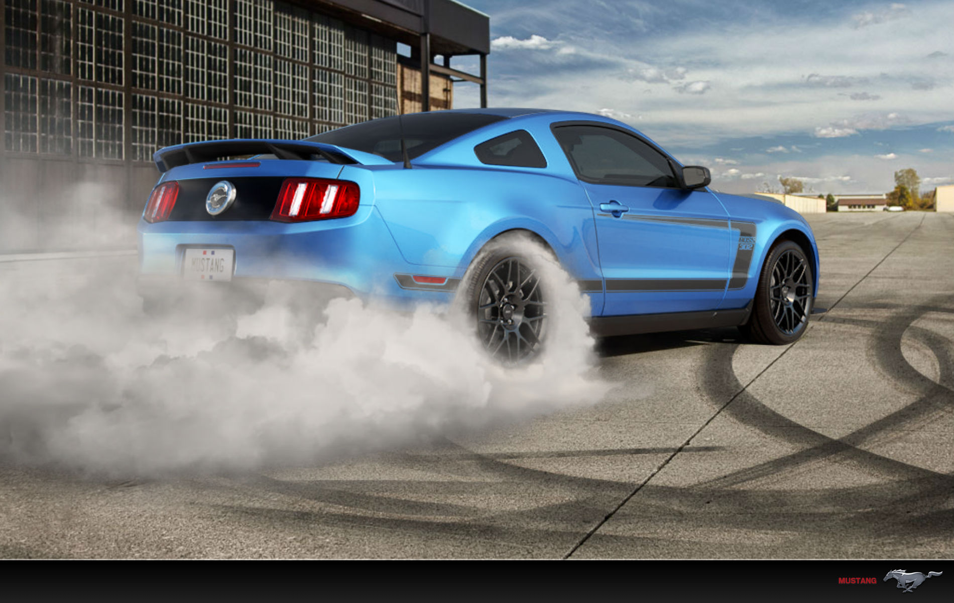 Mustang Burnout Wallpaper Wallpapersafari