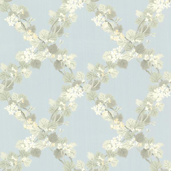Delphia Blue Jasmine Trellis Wallpaper   Farmhouse   Wallpaper   by 600x600