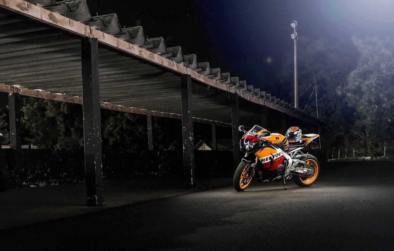 Wallpaper night motorcycle canopy honda bike Honda repsol 1332x850