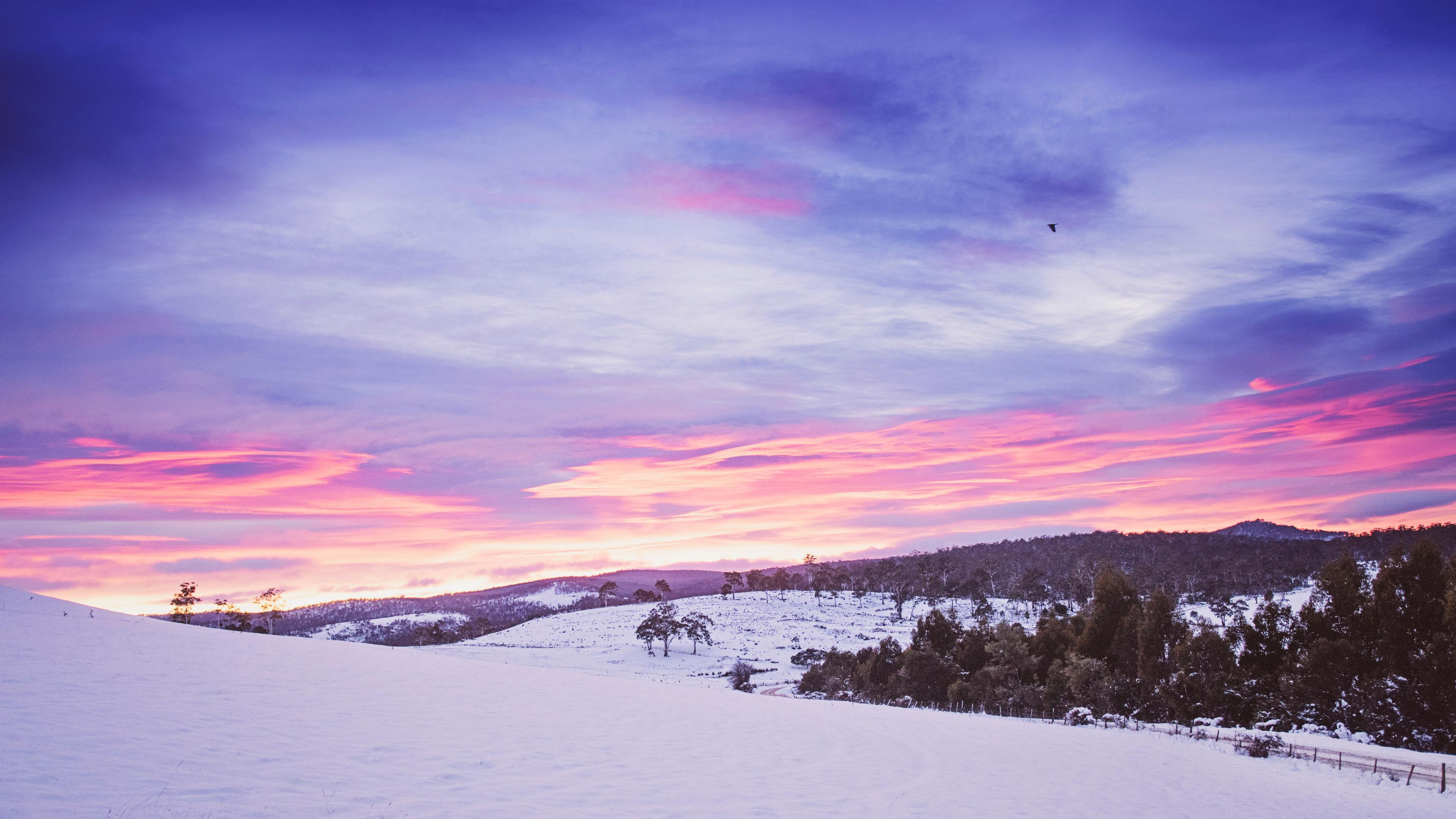 Wallpaper 4k Snowy Mountains Landscape 4k Wallpaper 3840x2160