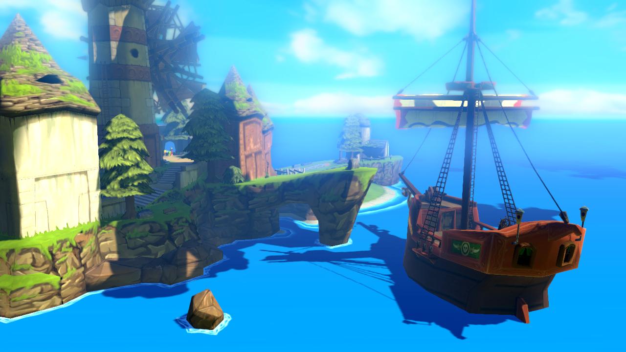 Legend fo Zelda The Wind Waker HD Widescreen Wallpaper 1280x720