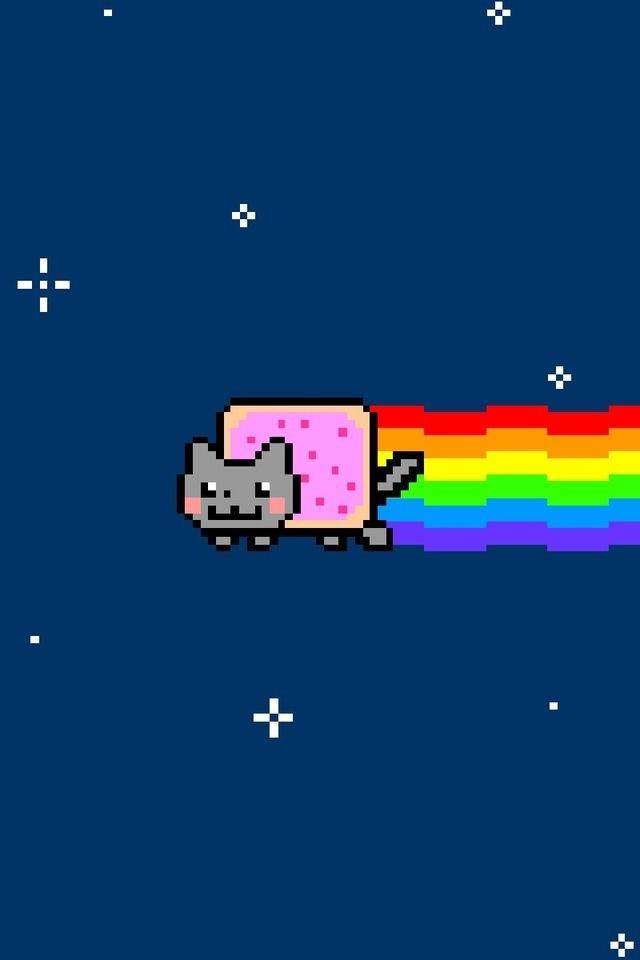 38 Nyan Cat Iphone Wallpaper On Wallpapersafari