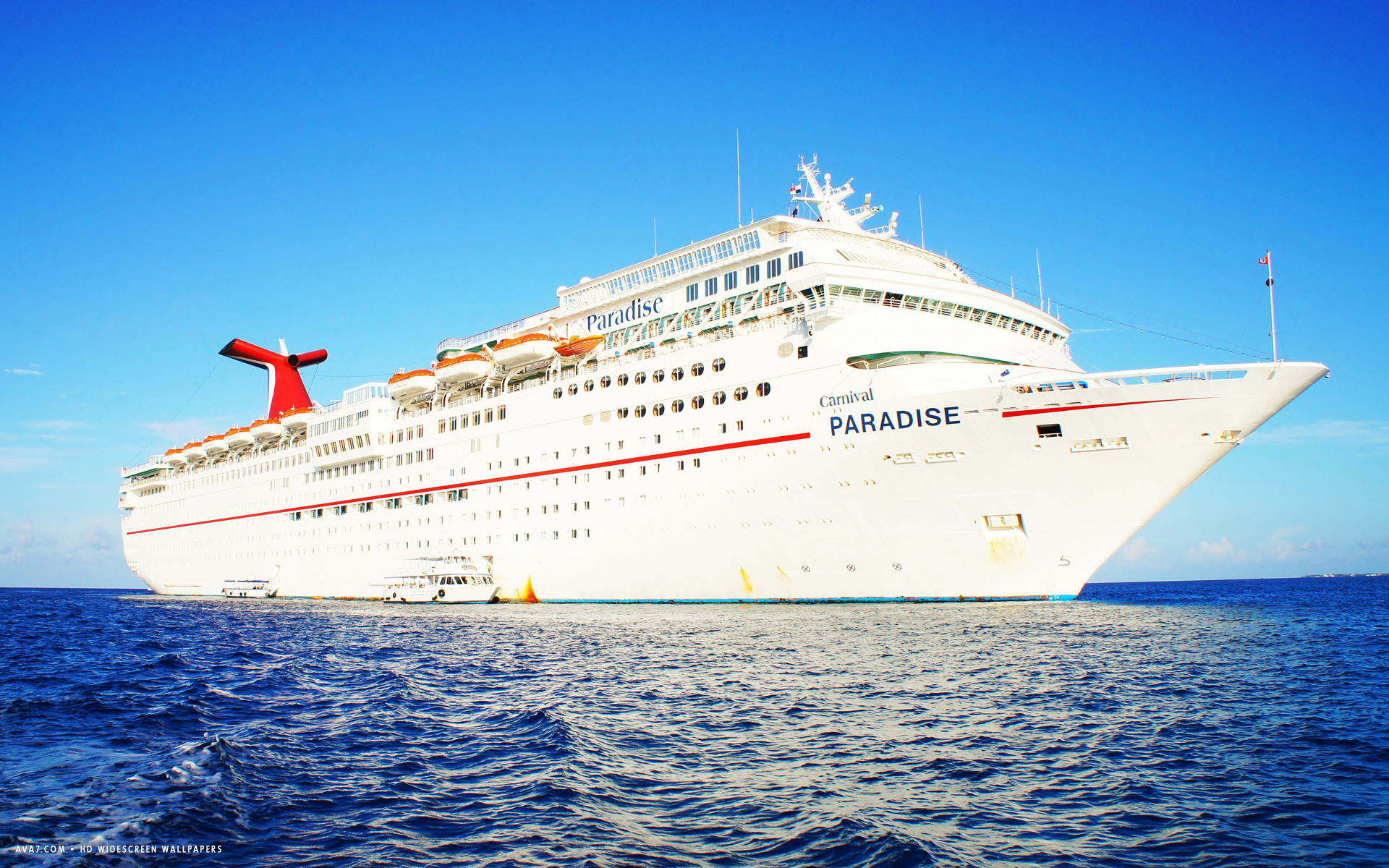 carnival paradise cruise ship hd widescreen wallpaper cruise ships 1920x1200