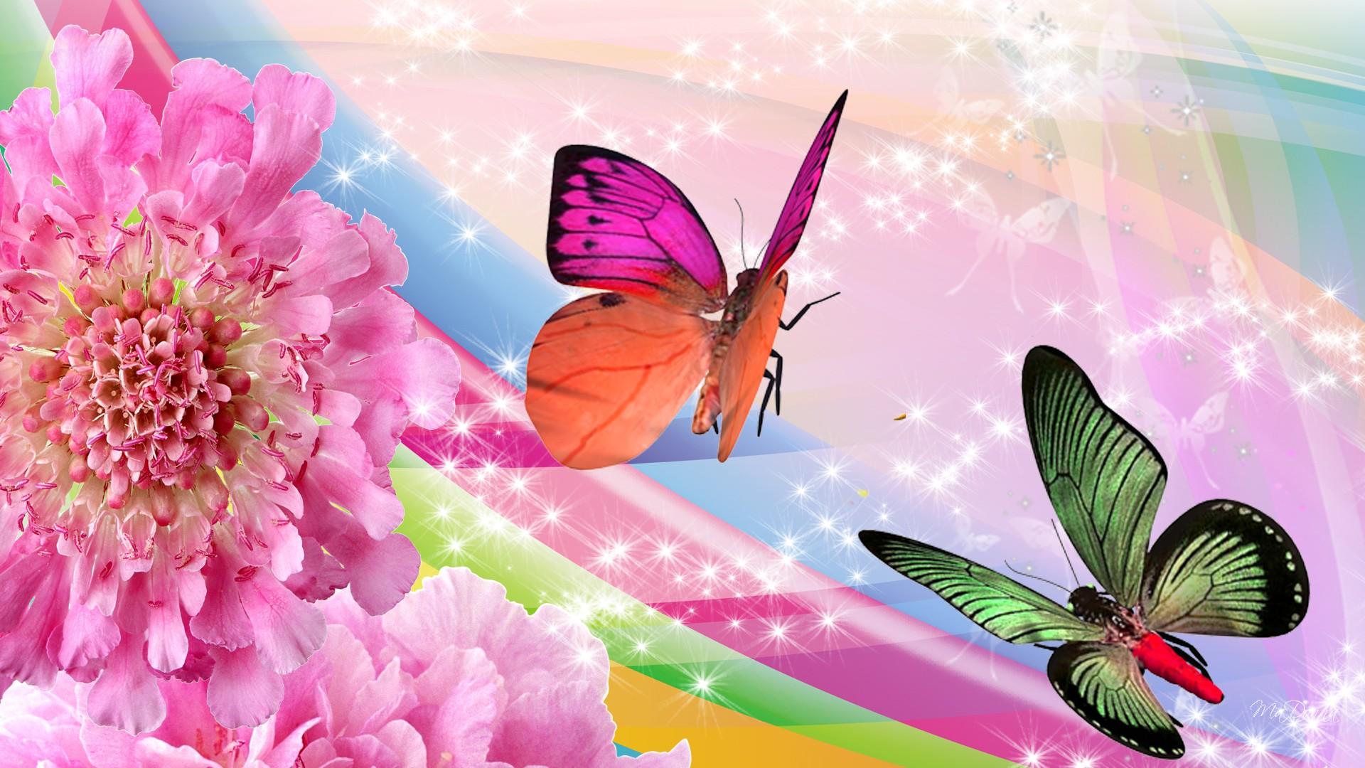 Butterflies And Flowers Wallpaper   52DazheW Gallery 1920x1080