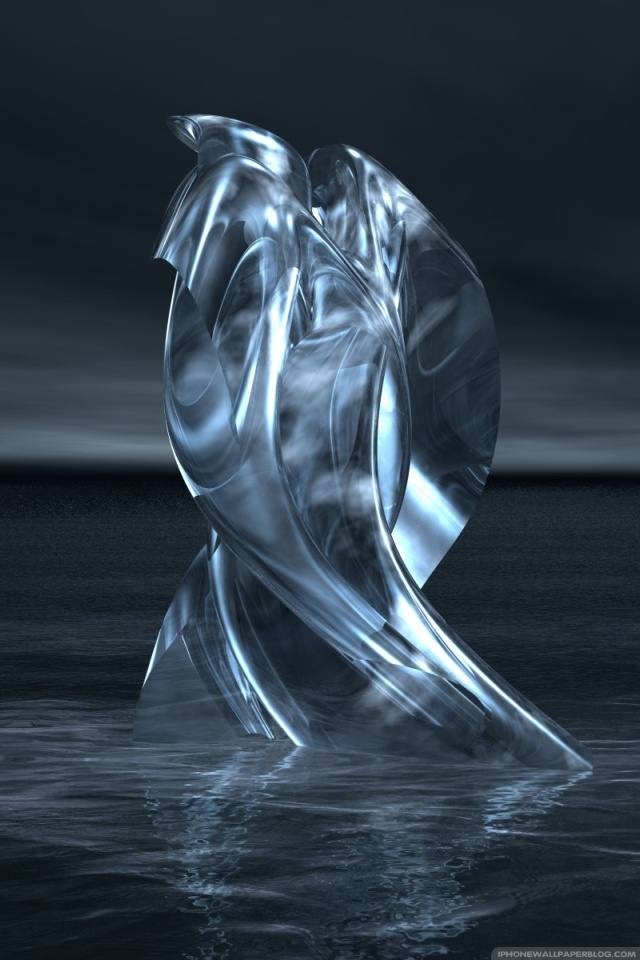 Free download 3D Fiction Silver iPhone Wallpaper [640x960