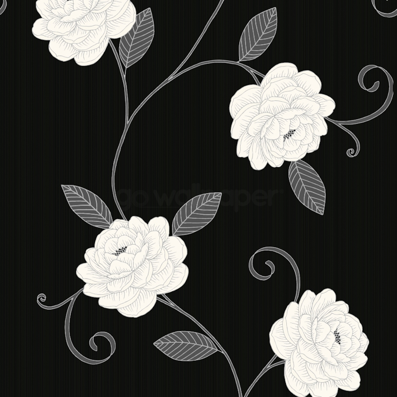 800x800px black and white floral wallpaper wallpapersafari black and white floral wallpaper mightylinksfo