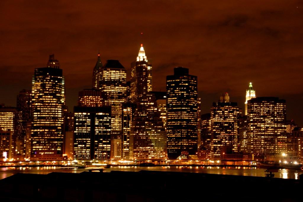 All World Visits: New York Skyline At Night