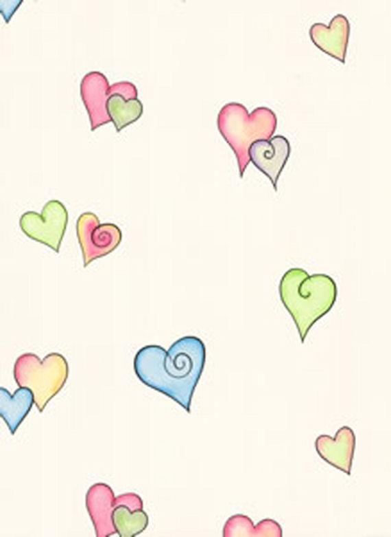 Heart Sidewall Wallpaper   Wall Sticker Outlet 570x781