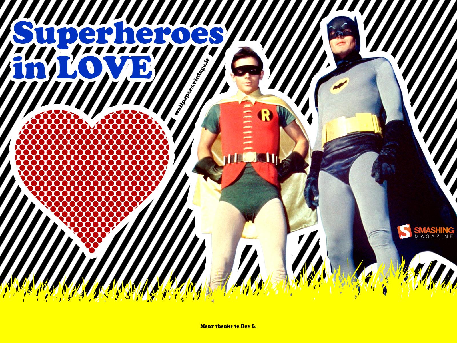 Superheroes in love Batman and Robin wallpaper 1600x1200jpg 1600x1200