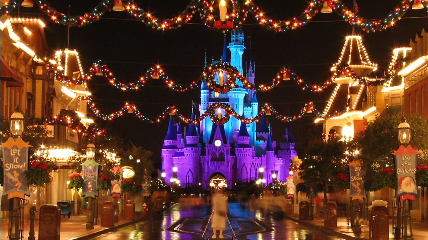 World of Disney for the Young at Heart Disney Christmas Wallpapers 1366x768