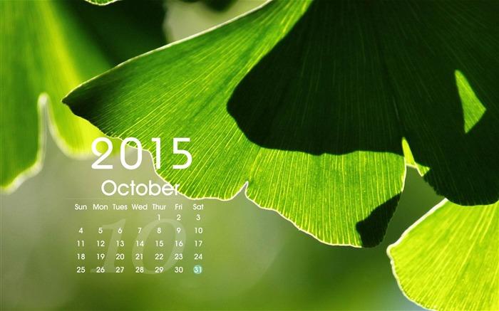 October 2015 Calendar Desktop Themes Wallpaper 700x437