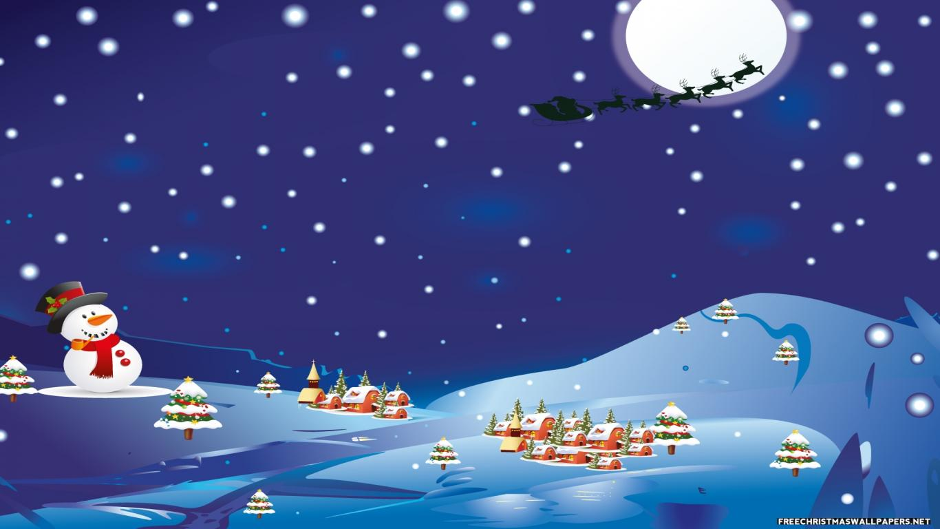 Free Christmas Desktop Wallpaper 1366x768 Wallpapersafari