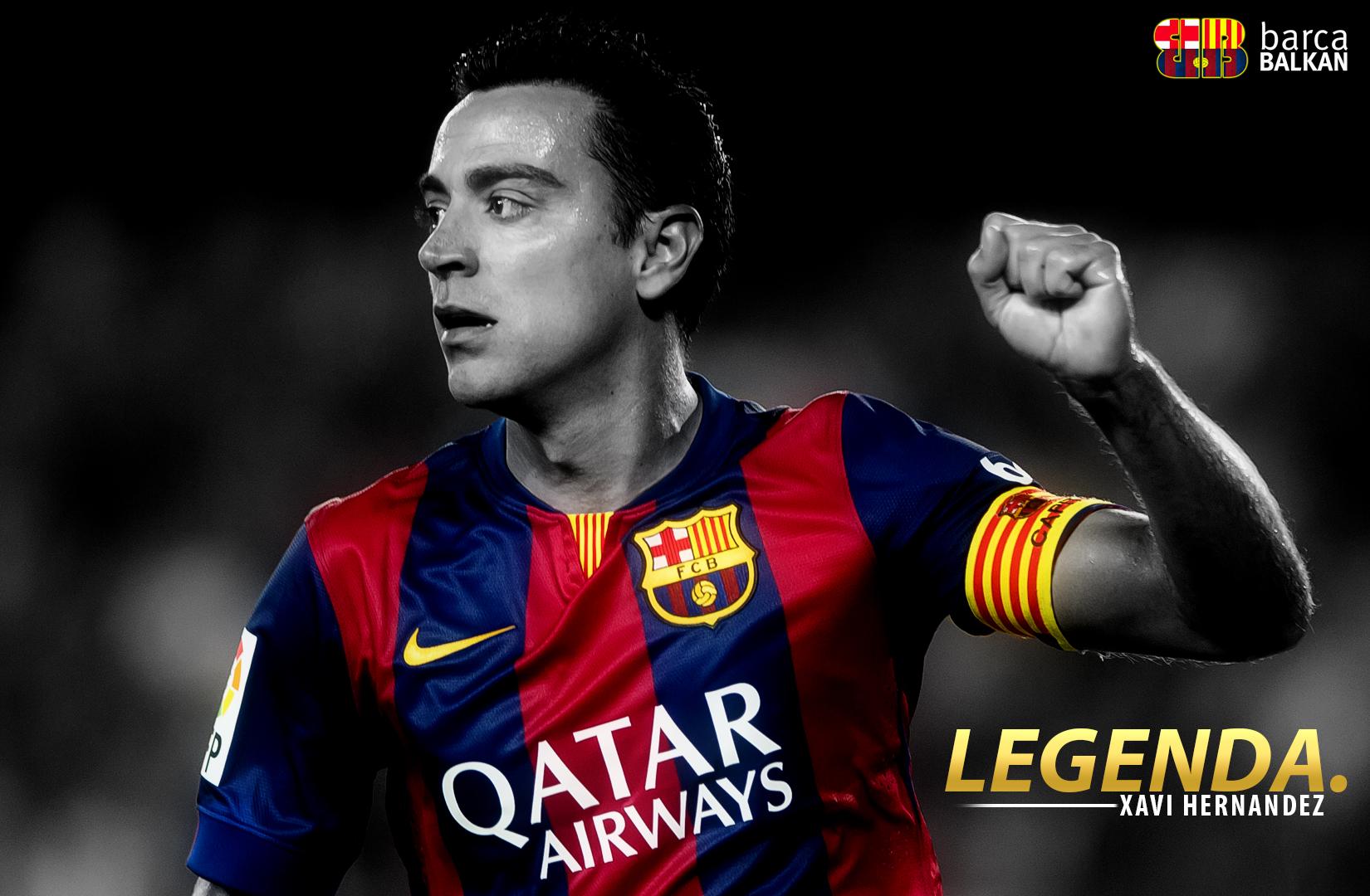Xavi Hernandez 2015 FC Barcelona WALLPAPER by SelvedinFCB 1650x1080