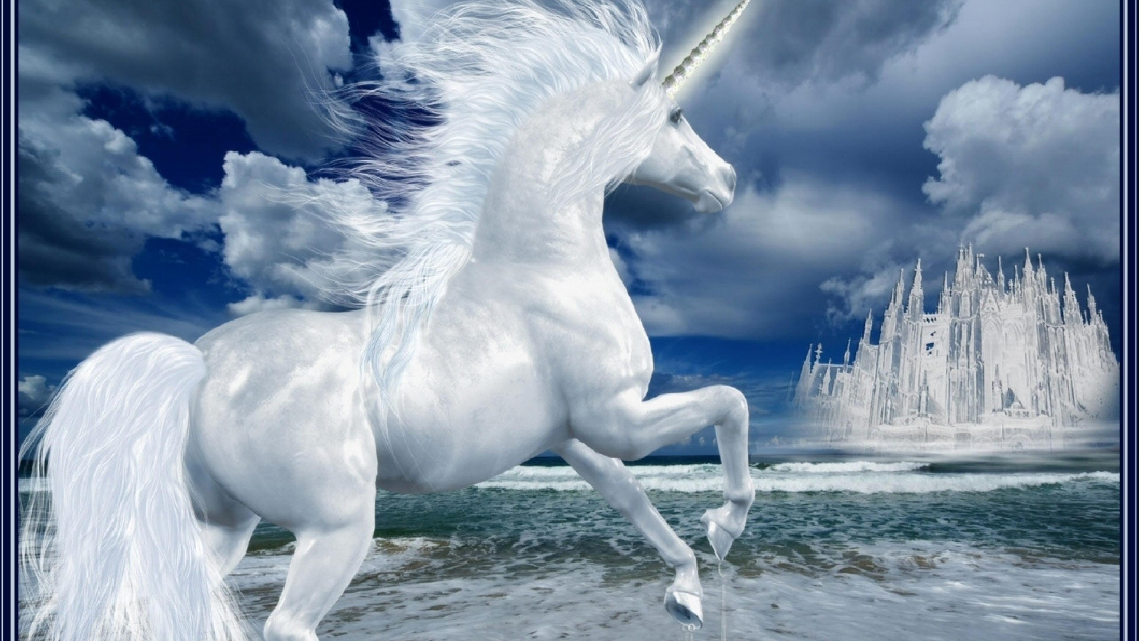 Download Wallpaper 3840x2160 unicorn lock phantom ice 4K Ultra HD 3840x2160