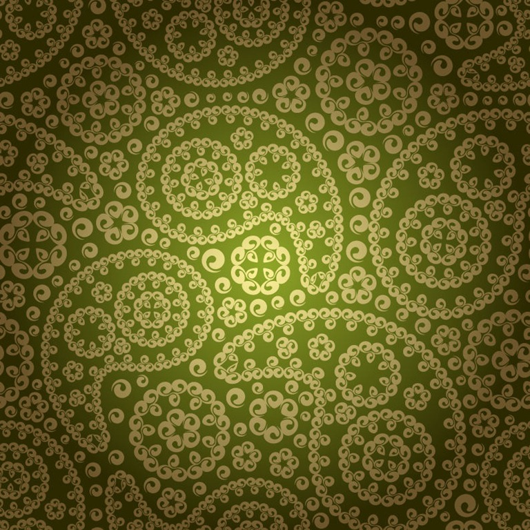 Vintage Floral Pattern Seamless Background Vector Graphics 768x768