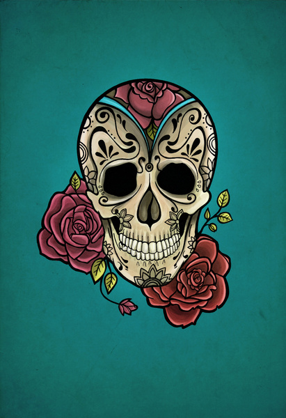 46 Mexican Skull Wallpaper On Wallpapersafari