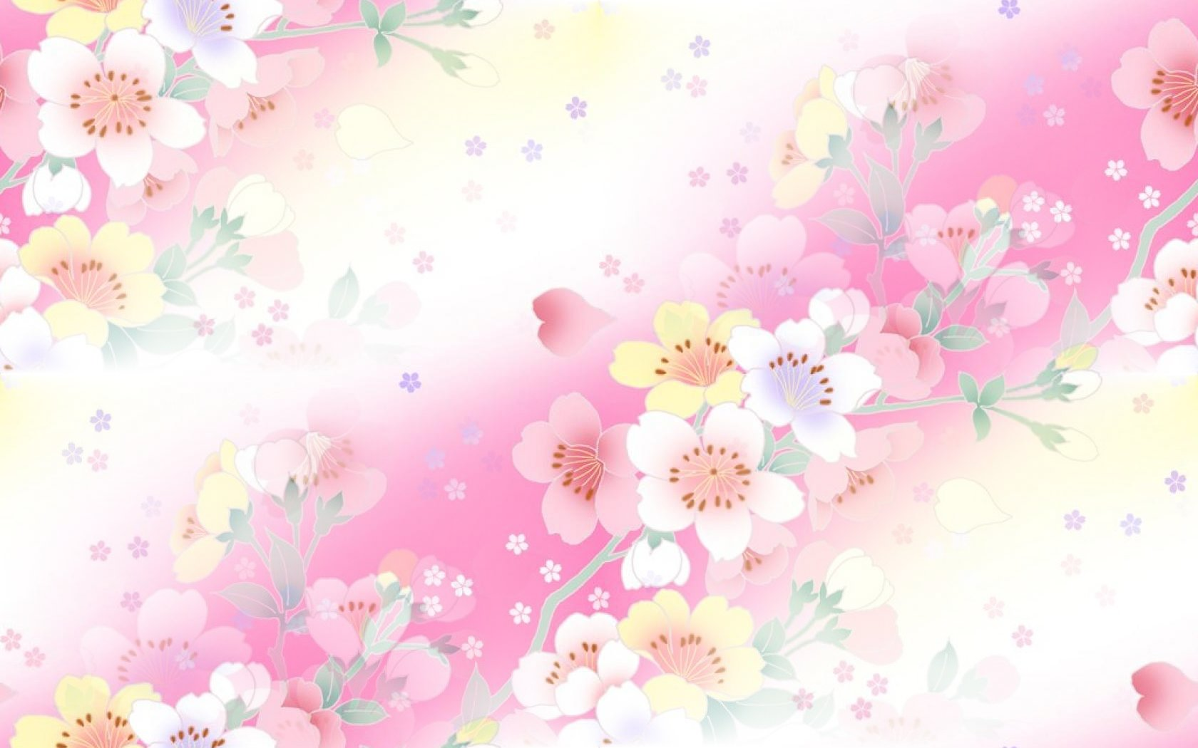 Pretty Spring Flowers Twitter Backgrounds Pretty Spring Flowers 1680x1050