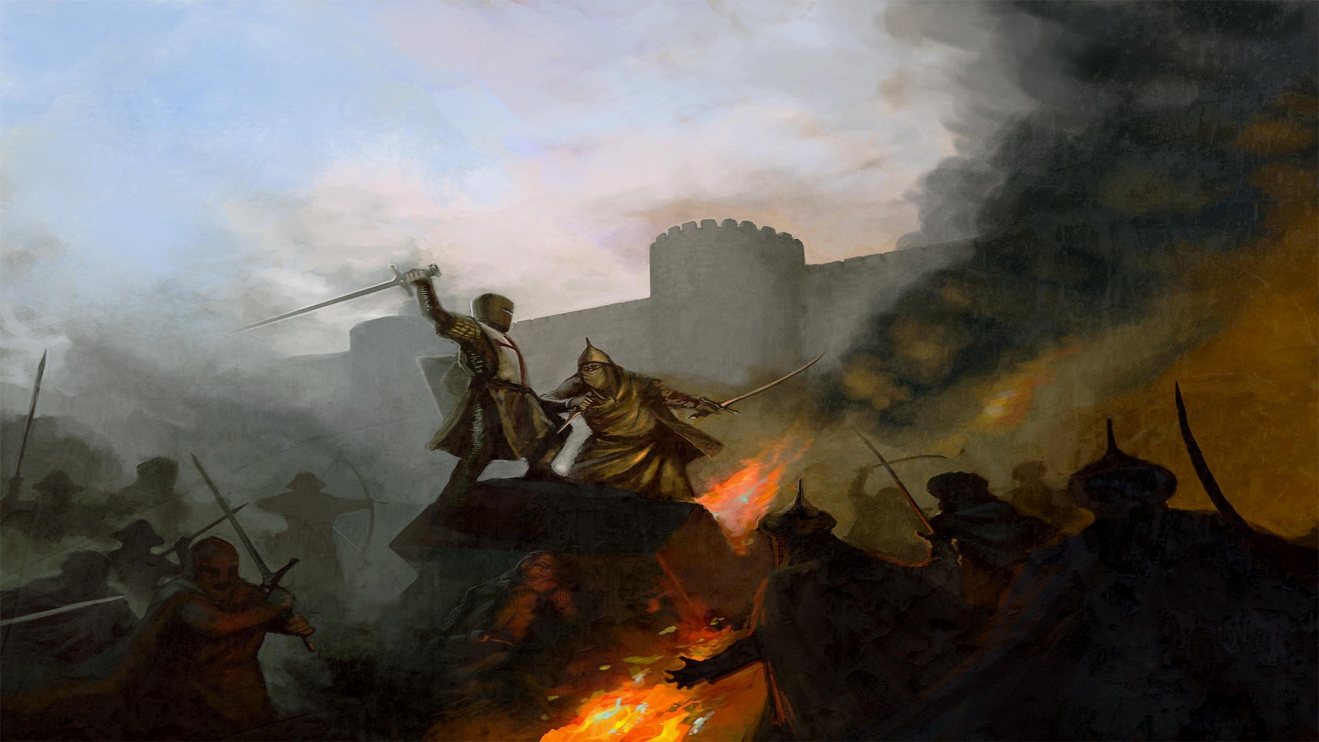 historic crusade Muslim knights crusader crusader kings 2 1920x1080