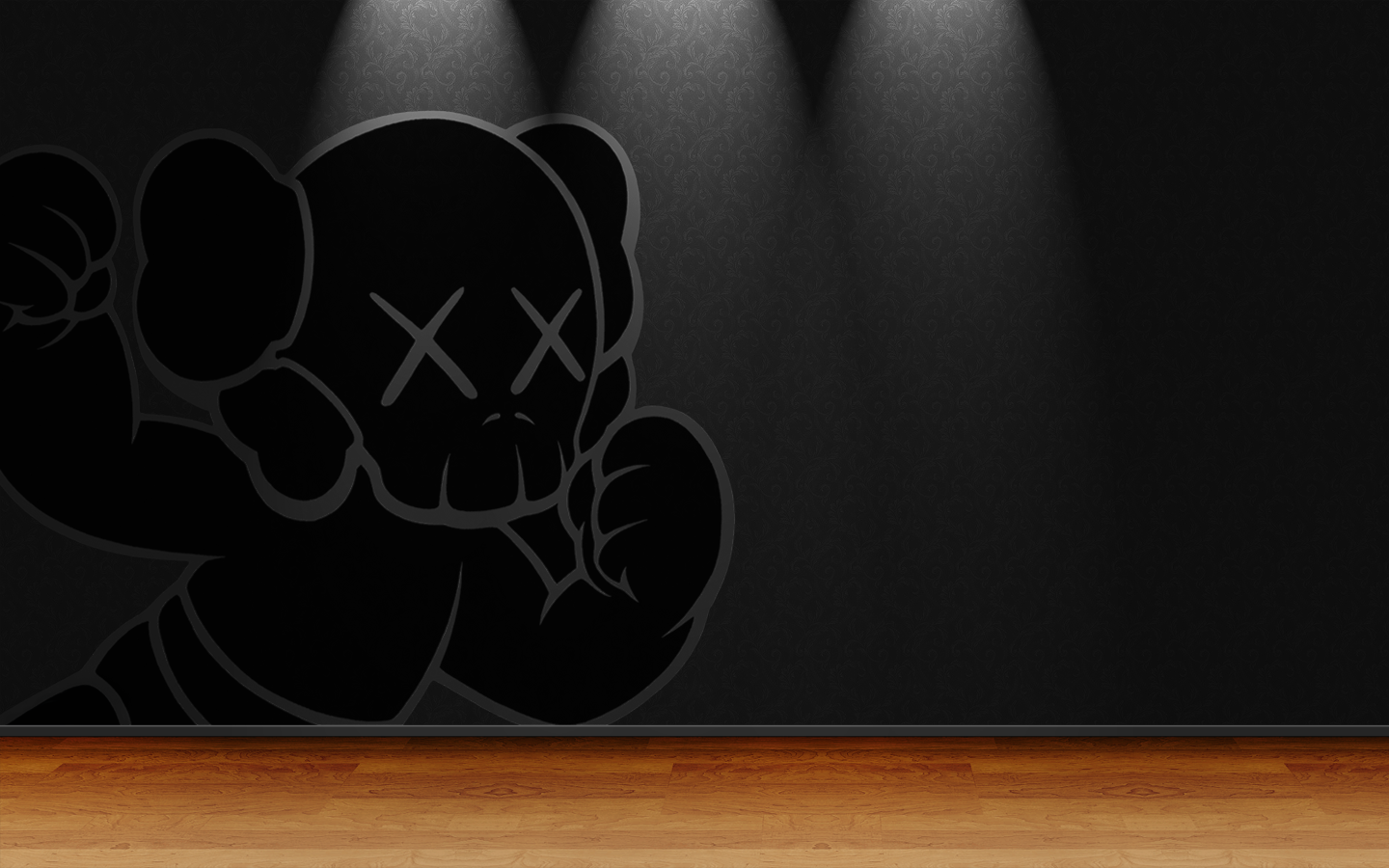 Kaws Wallpaper Iphone Dramatic kaws by steeeez 1440x900