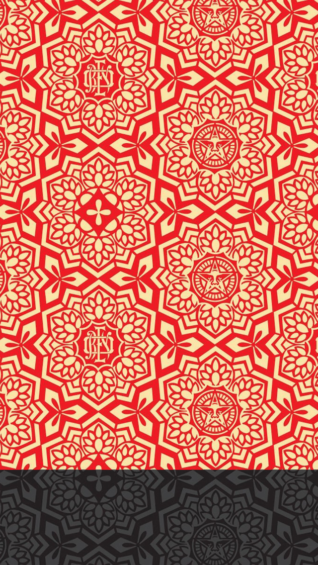 Obey Wallpaper Tumblr Iphone Obey pattern iphone 5 640x1136
