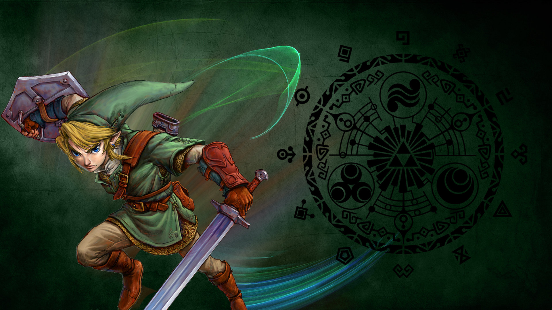 twilight princess wallpaper borkky art 1920x1080