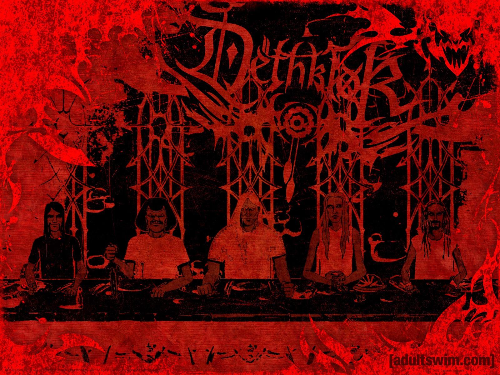 Dethklok heavy metal music cartoons hard rock band groups 1600x1200