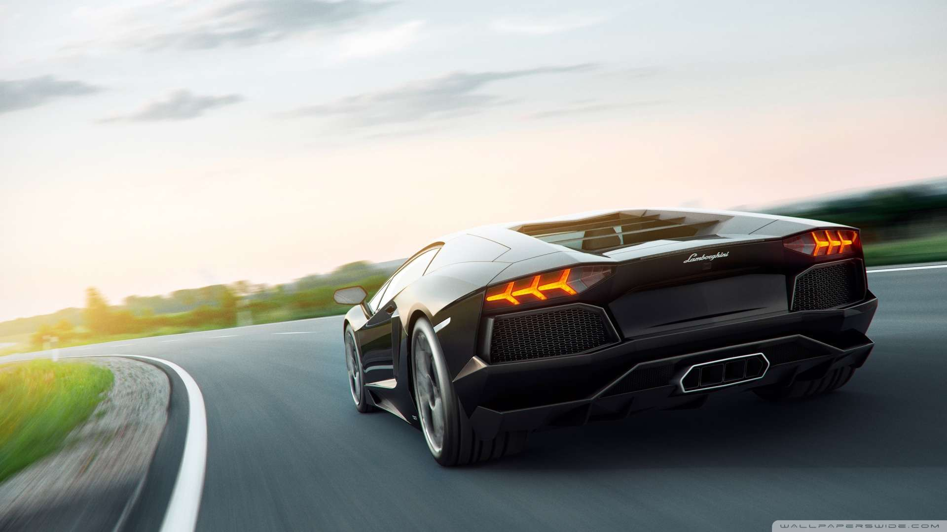 Wallpaper Lamborghini Aventador Art Wallpaper 1080p HD Upload at 1920x1080
