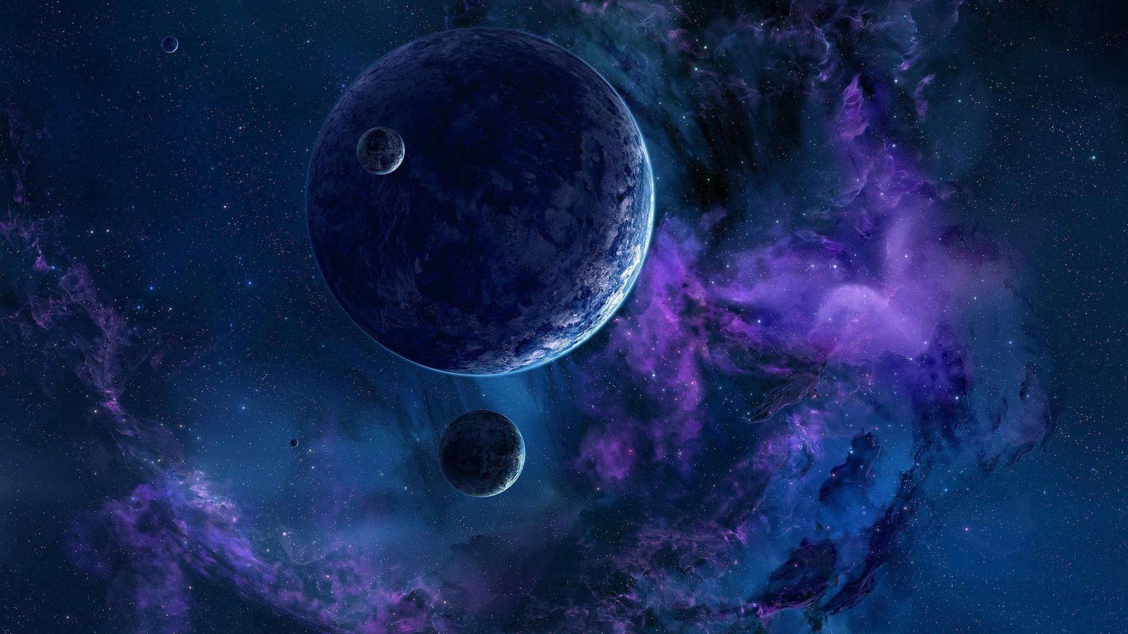 Обои Планеты синие картинки на рабочий стол на тему Космос - скачать  № 1765762 без смс