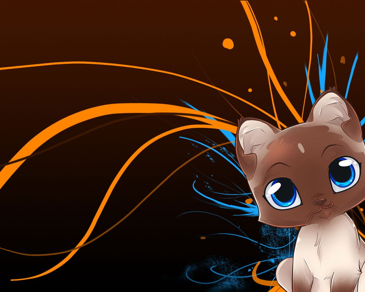 40 Cute Anime Cat Wallpaper On Wallpapersafari