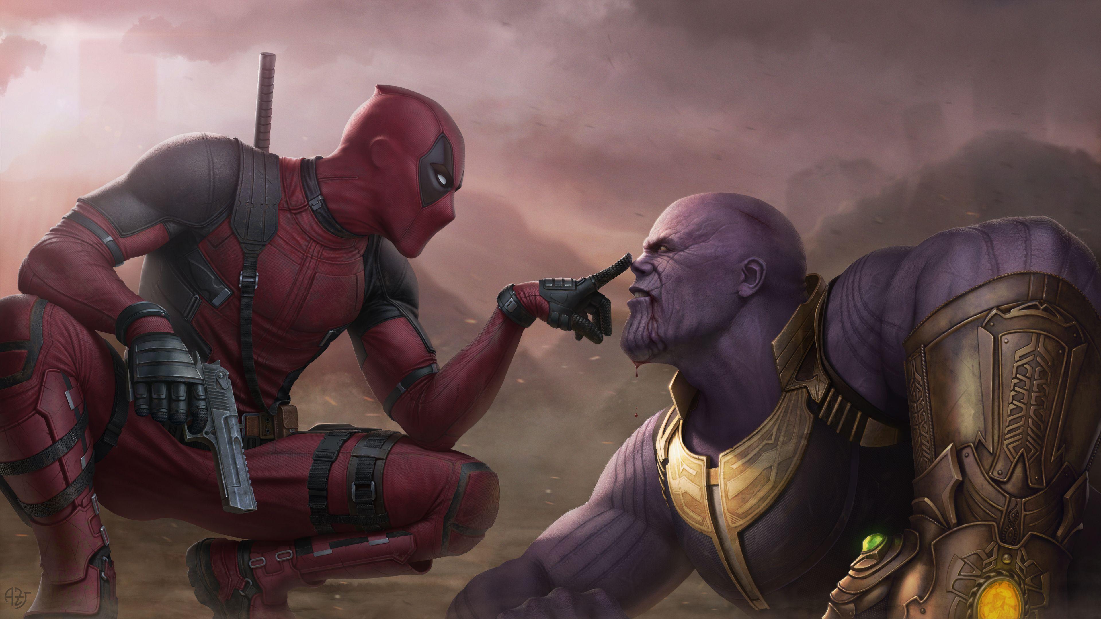 download Deadpool Vs Thanos 4k thanos wallpapers supervillain 3840x2160