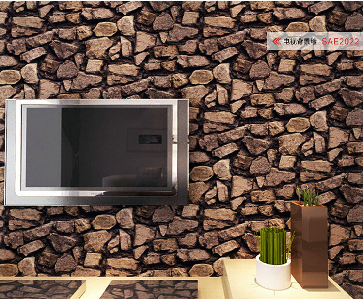 stone restaurant TV backdrop wallpaper direct agent wallpapers roll 749x617