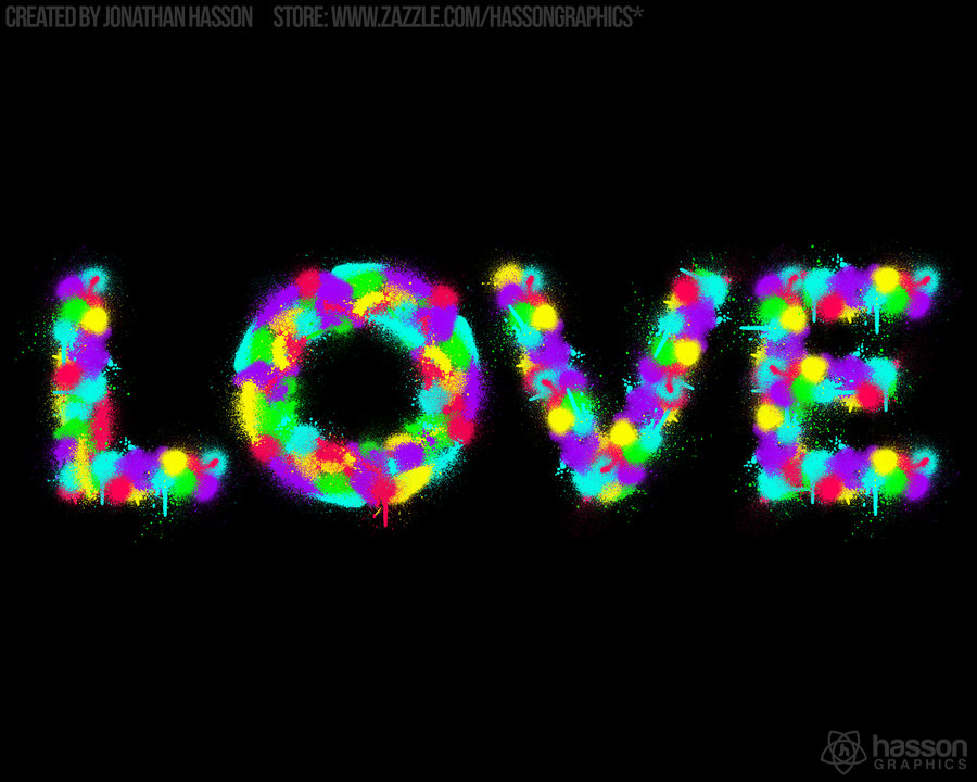 Neon Love HD Wallpaper by jhasson 900x720