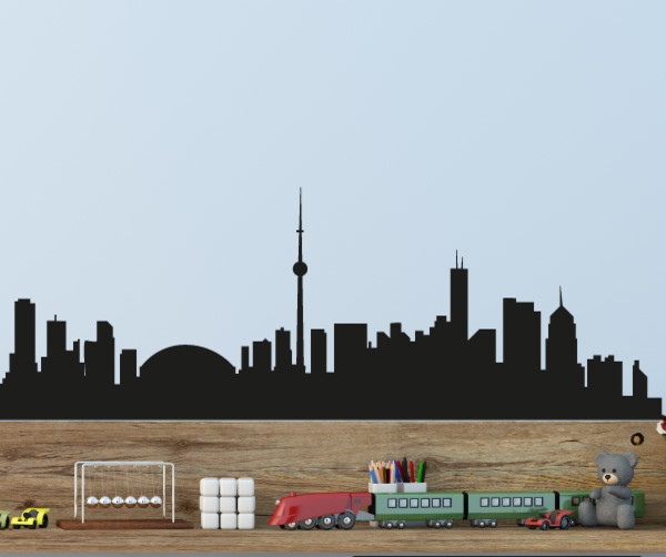 Toronto Skyline Vinyl Wall Decal or Car Sticker SS053EY 18 in 600x502