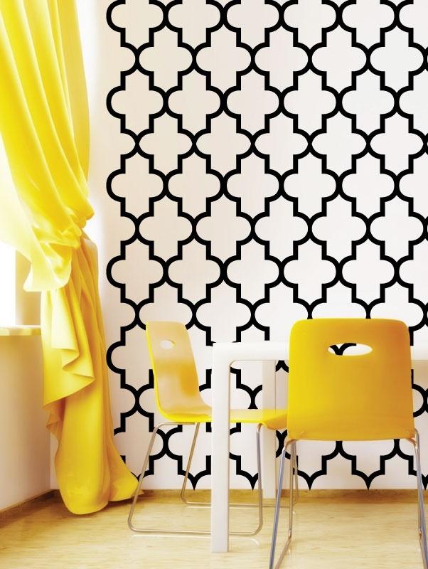 Trellis Pattern Wall Decals 602x800