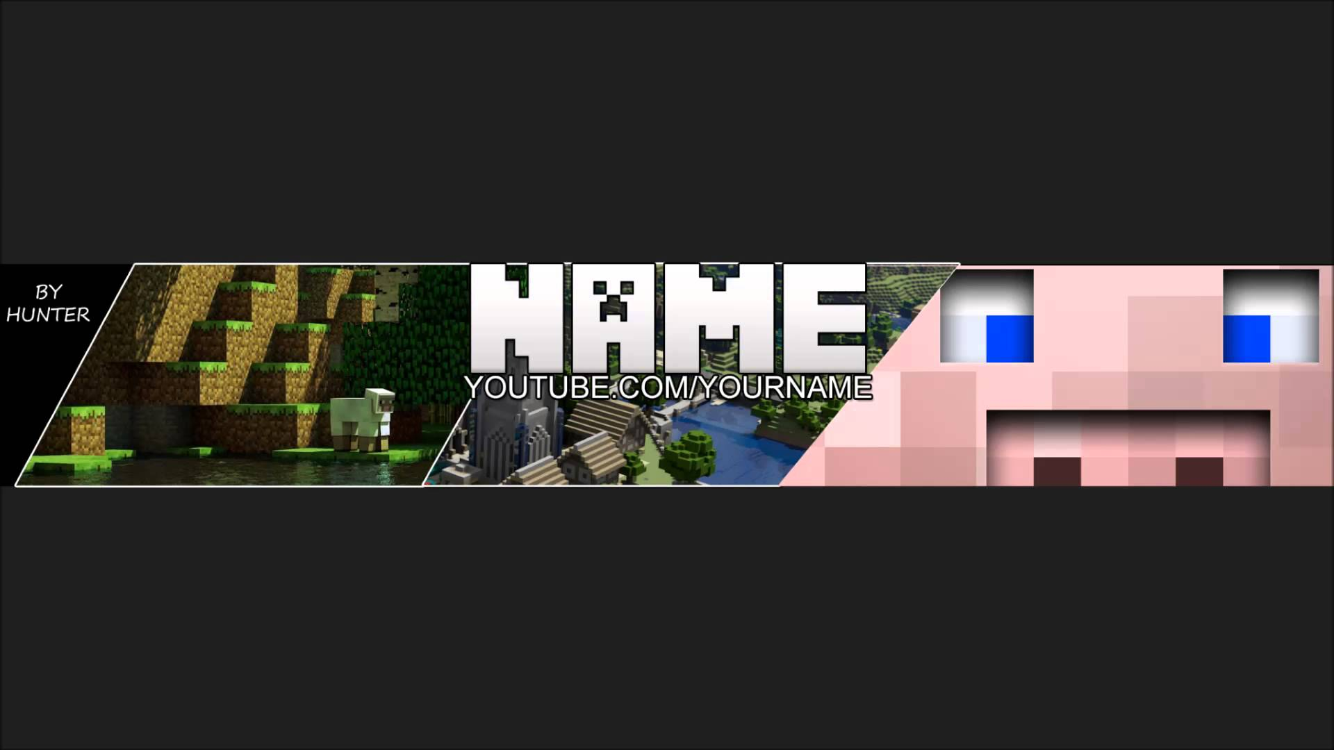 One Channel Minecraft Background Template 2013 Layout by me 1920x1080