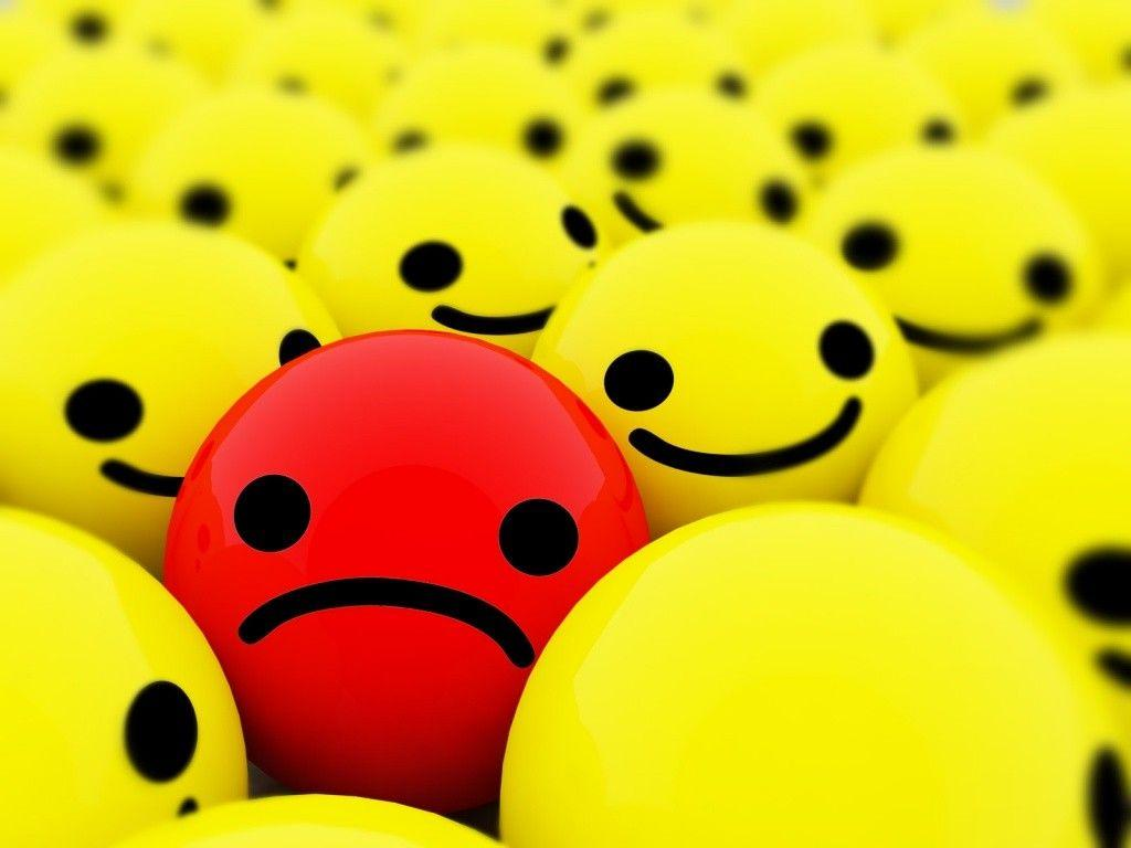 Sad Face Backgrounds 1024x768