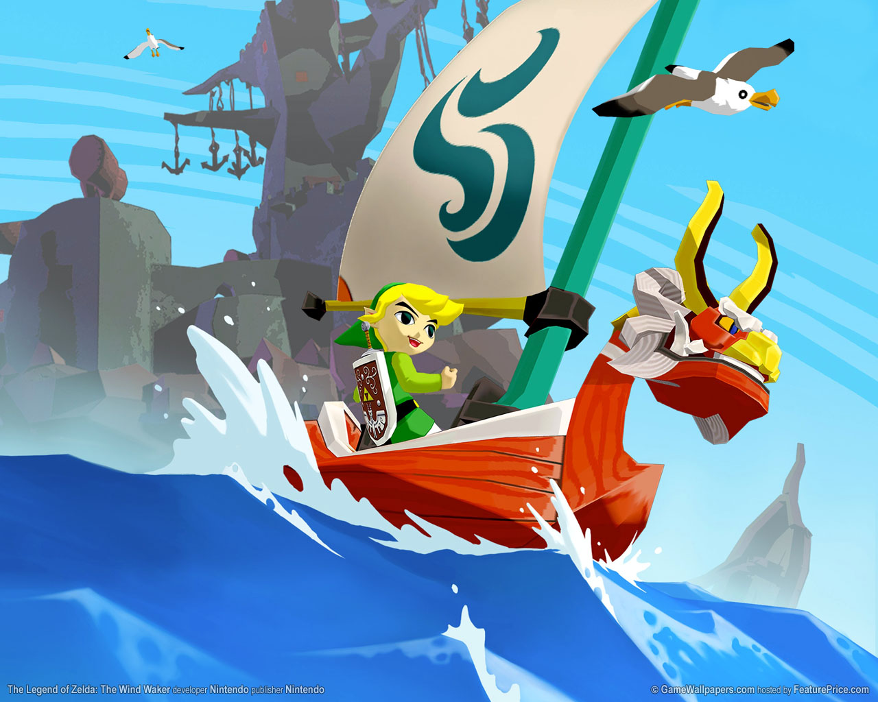 Clikaki Downloads Download   The Legend of Zelda The Wind Waker 1280x1024