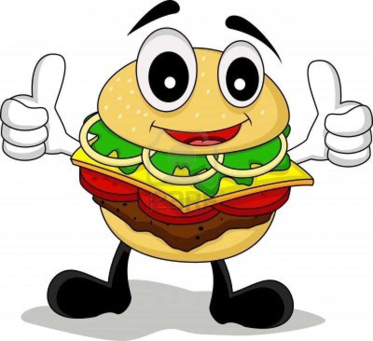 Cartoon Hamburger Wallpaper