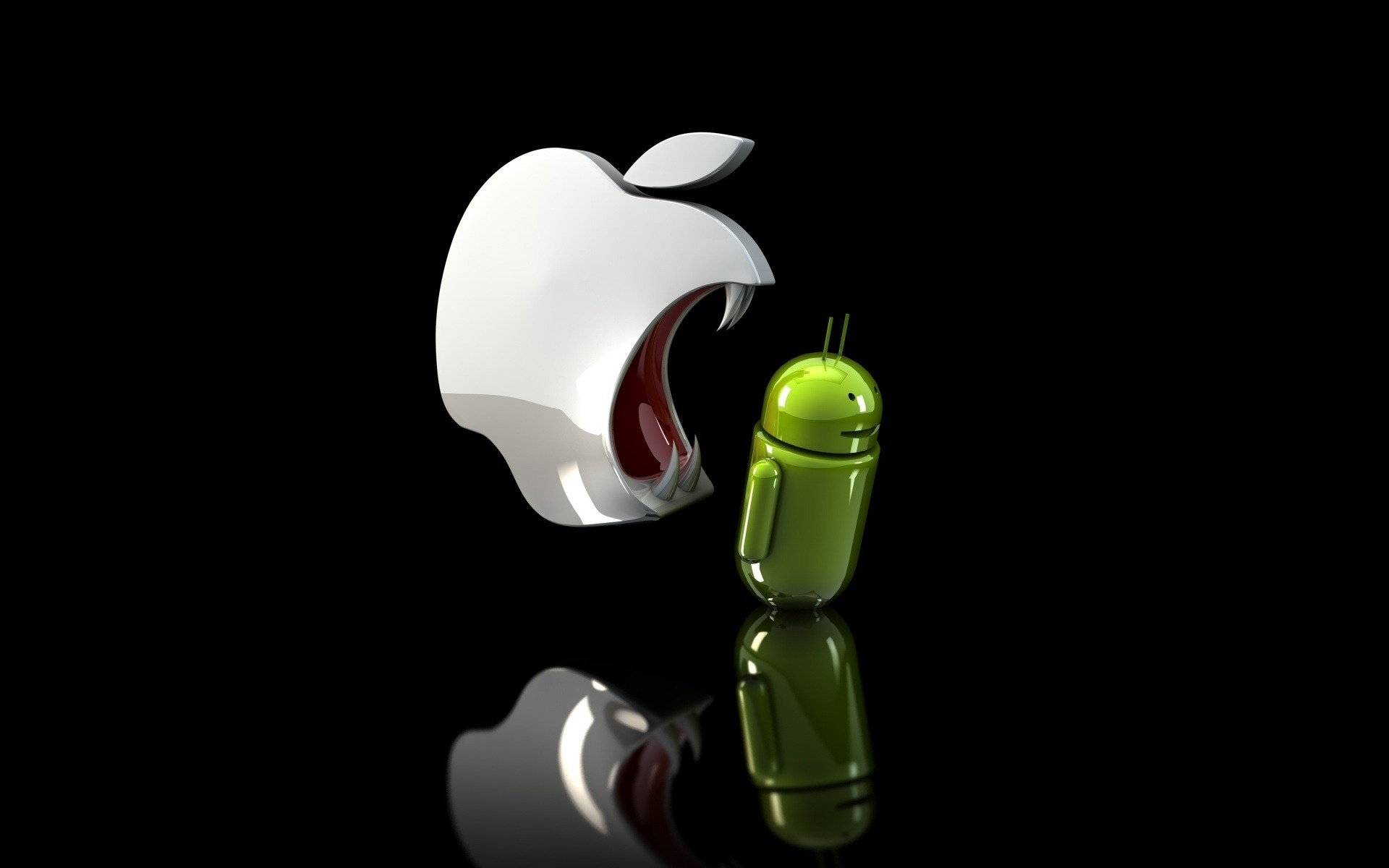 Android vs Apple   Android wallpaper   Android vs Apple 1920x1200