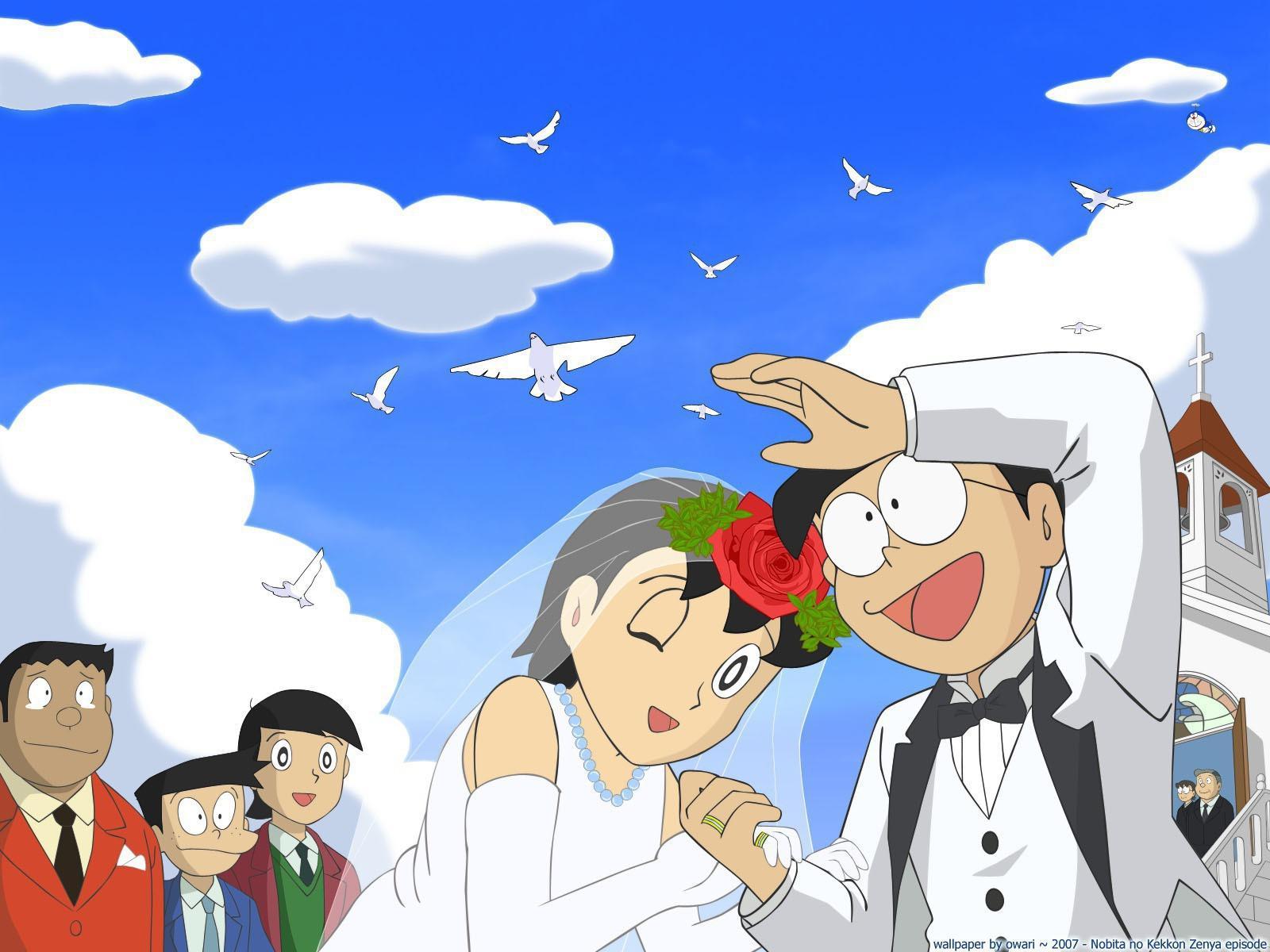Nobita Shizuka Wedding   Wallpaper High Definition High Quality 1600x1200