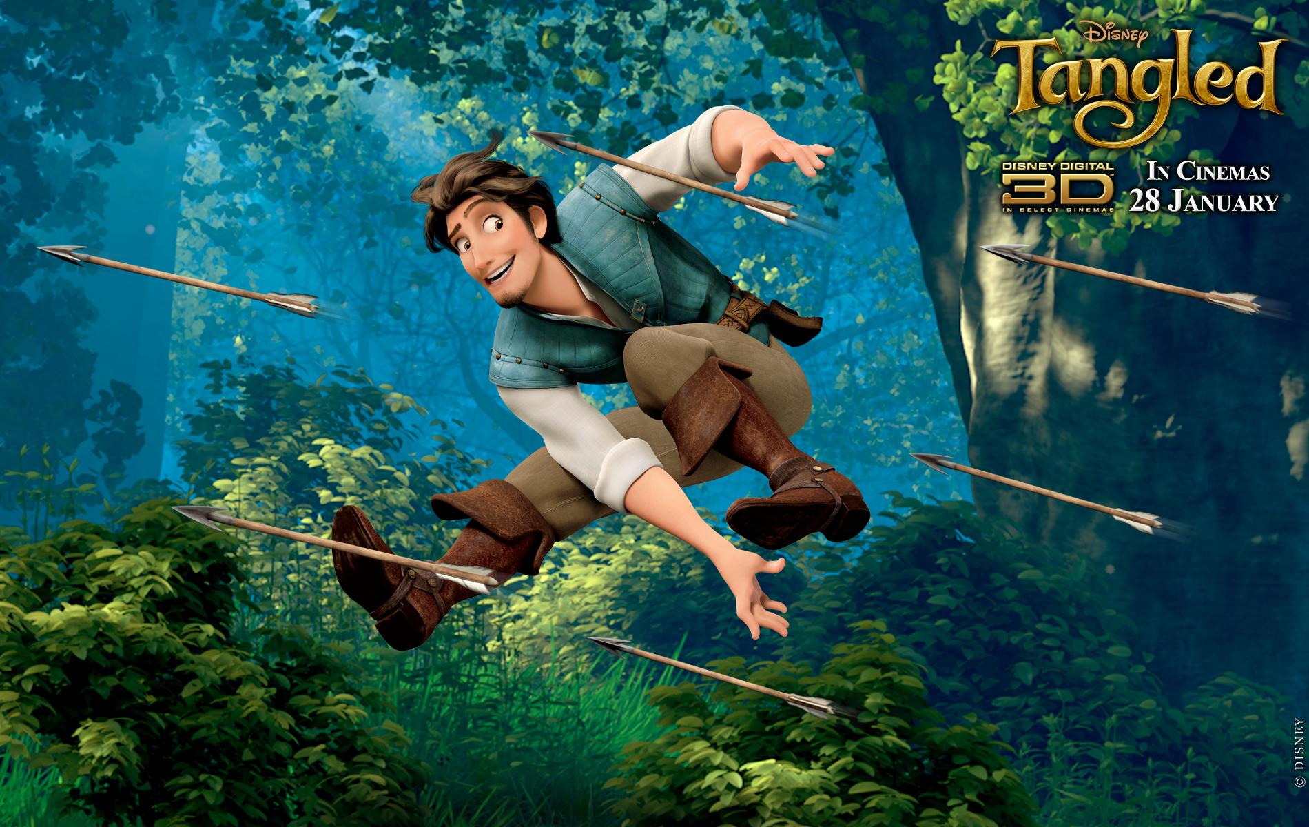 Flynn from Disneys Tangled Movie Desktop Wallpaper 1900x1200