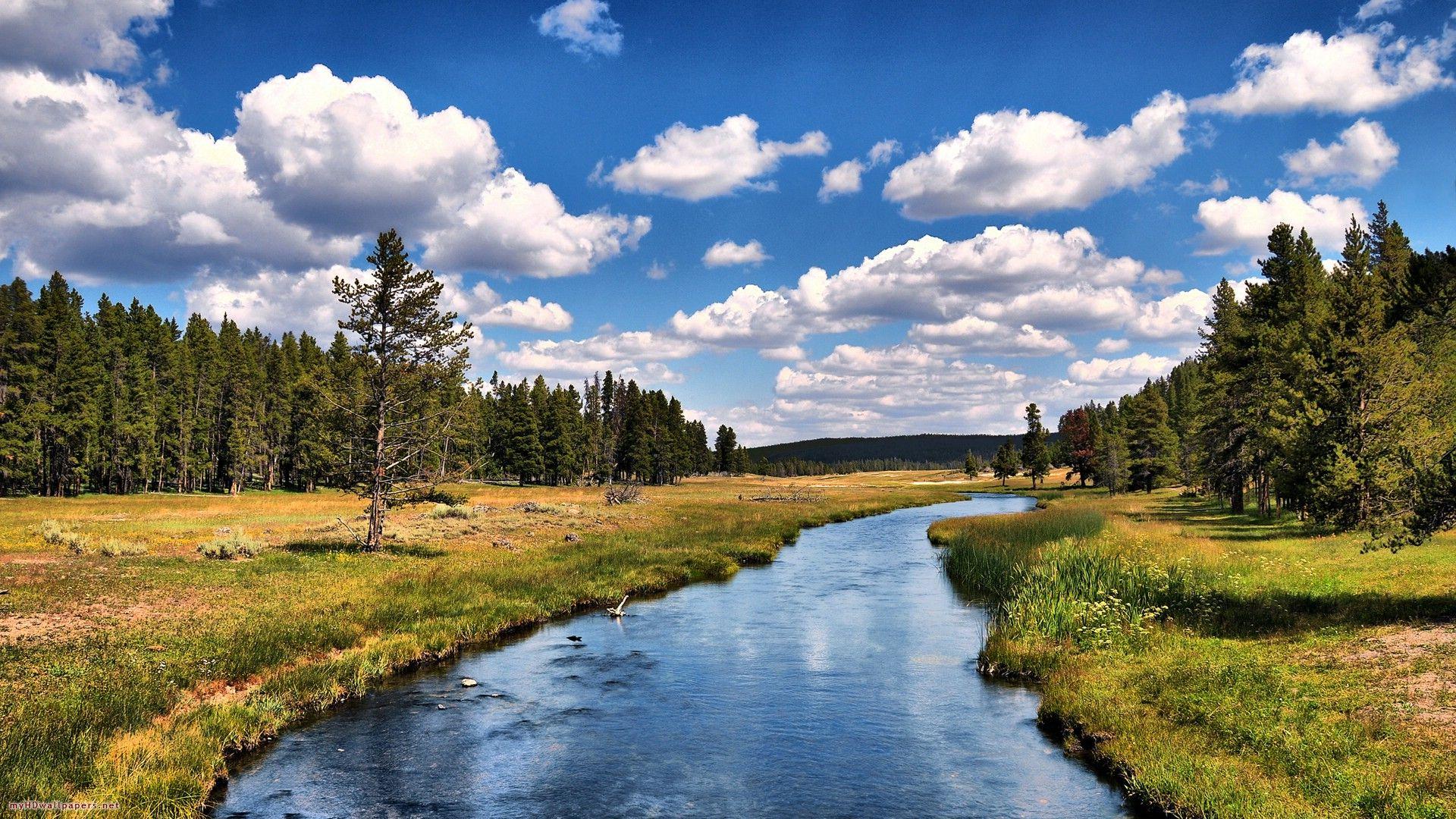 Beautiful River Wallpapers  Yellowstone 1920x1080
