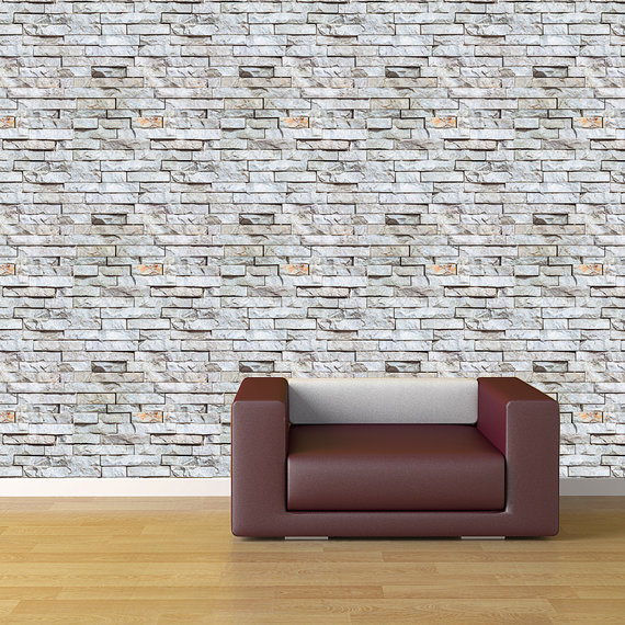 Removable Peel and Stick Fabric Wallpaper   Seamless Brick Wall paper 570x570