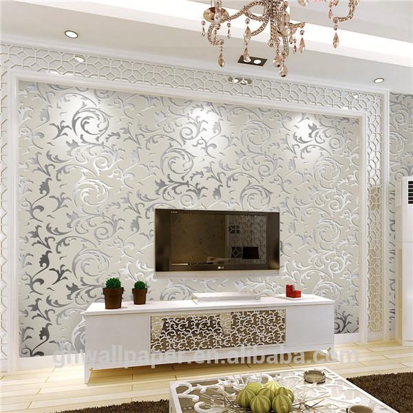 Metallic wallpaper for home wallpapersafari for Purchase wallpaper