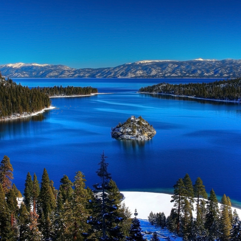 Beautiful lake snow iPad Backgrounds Best iPad Wallpaper Wallpaper 1024x1024