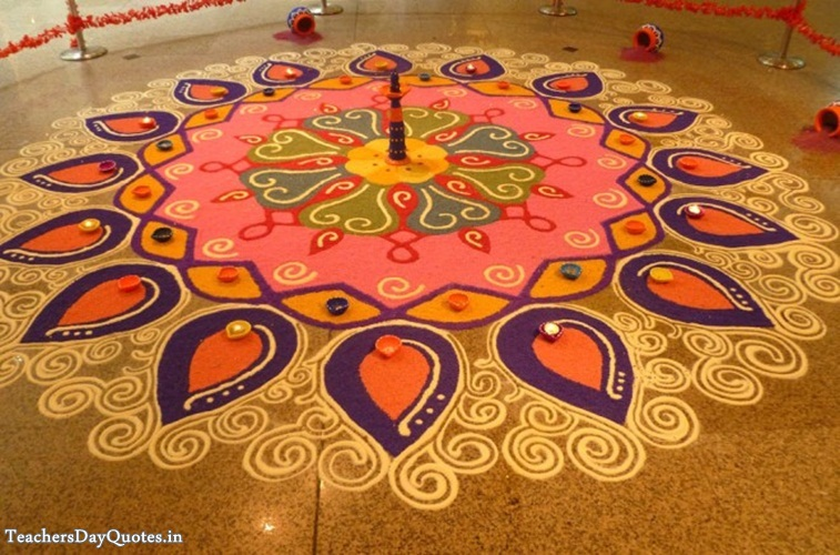 rangoli designs with flowers for diwali 2015 beautiful rangoli designs 757x500